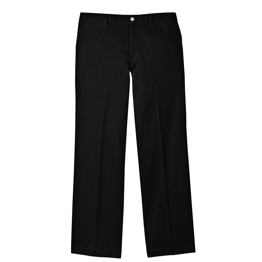 Dickies Men's 38-32 Black Flame Resistant Relaxed Fit Twill Pant