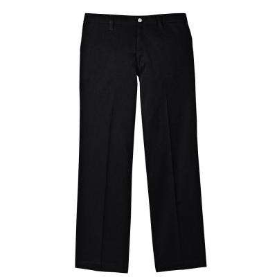 Men's 34-30 Black Flame Resistant Relaxed Fit Twill Pant