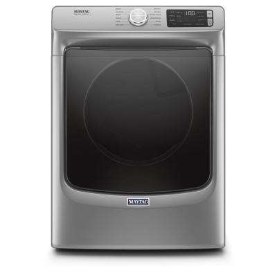 7.3 cu. ft. 240-Volt Metallic Slate Stackable Electric Vented Dryer with Steam, ENERGY STAR