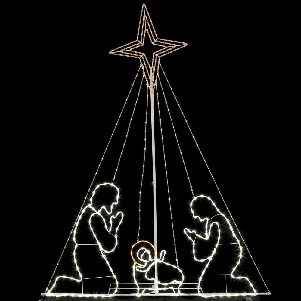 Home Accents Holiday 84 In Christmas Led Wire Nativity Set