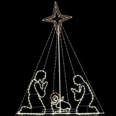 84 in. Christmas LED Wire Nativity Set