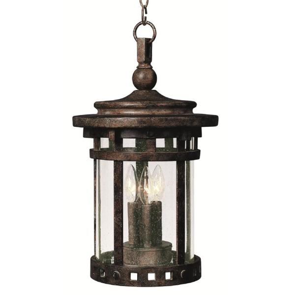 Santa Barbara Cast 3-Light Sienna Outdoor Hanging Lantern