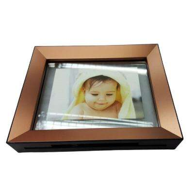 """5 x 7"""" Copper toned Brown Shinny Picture Frame"""