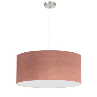 1-Light Dusty Rose Pendant with Electroplated Steel Shade
