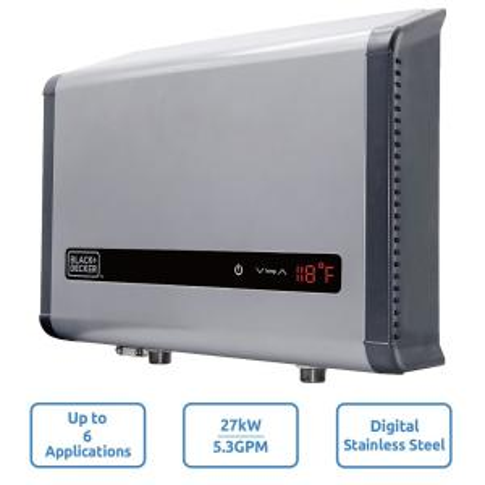 BLACK+DECKER 27 kW 5.3 GPM Electric Tankless Water Heater