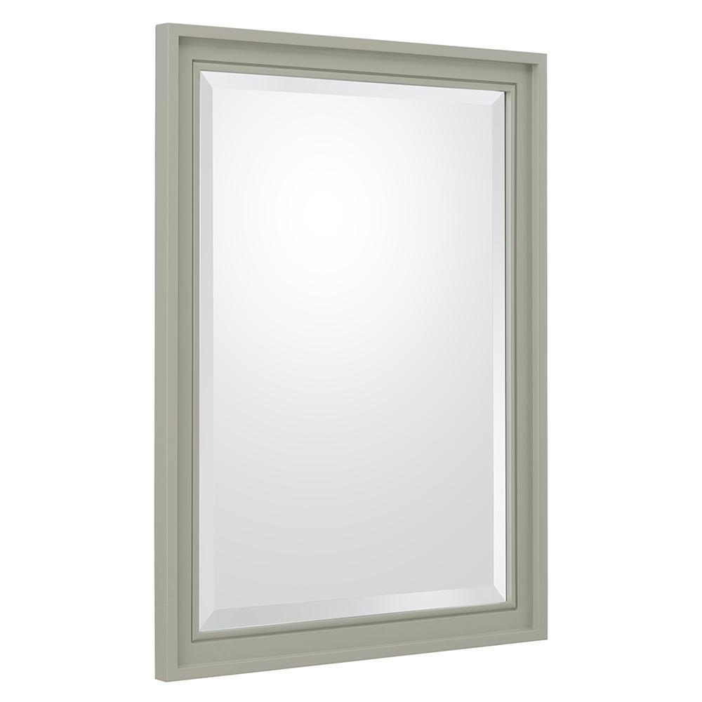 Shaelyn 24 in. W x 32 in. H Framed Wall Mirror in Sage Green