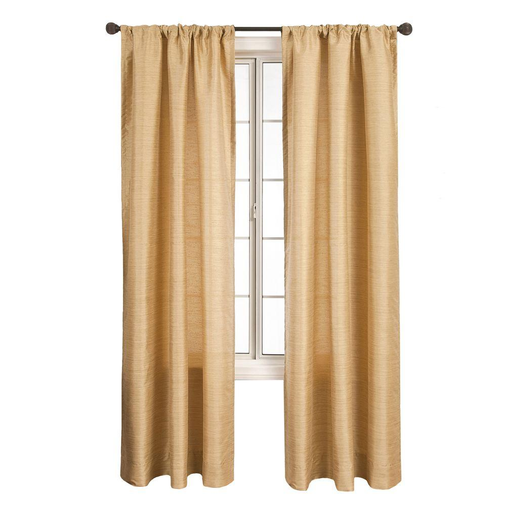 Home Decorators Collection Sheer Grass Borgata Rod Pocket Curtain - 54 in.W x 96 in. L