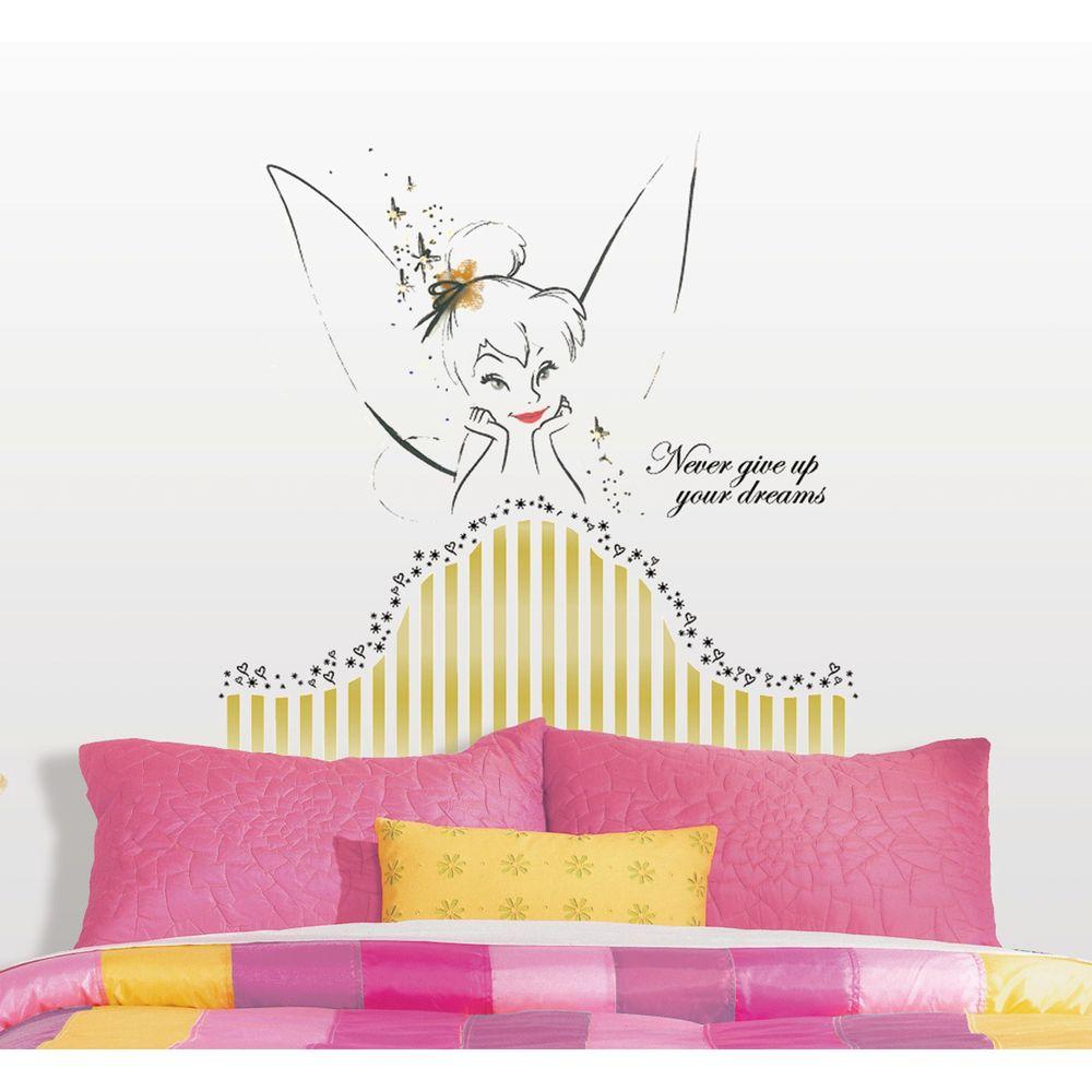 18 in. x 40 in. Disney Fairies - Tinkerbell Headboard 7-Piece
