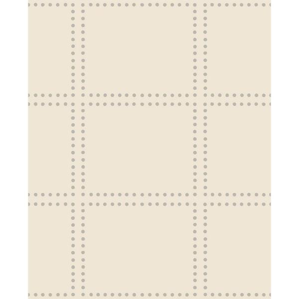 A-Street Gridlock Cream Geometric Wallpaper 2697-22645