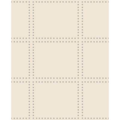 Gridlock Cream Geometric Paper Strippable Roll Wallpaper (Covers 56.4 sq. ft.)