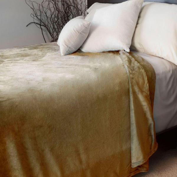 Lavish Home Brown Polyester Flannel Full/Queen Blanket 61-00001-FQ-Bro