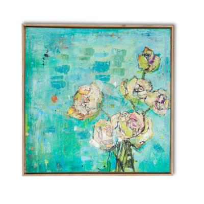Floral Bouquet by Unknown Author Framed Canvas Wall Art