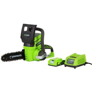 Greenworks 10 inch 24-Volt Cordless Chainsaw - Battery and Charger Included by Greenworks