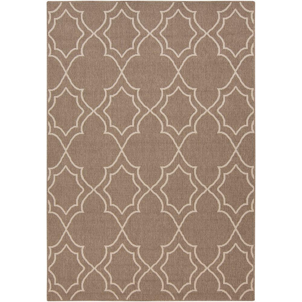 Anderson Beige 5 ft. x 8 ft. Indoor/Outdoor Area Rug