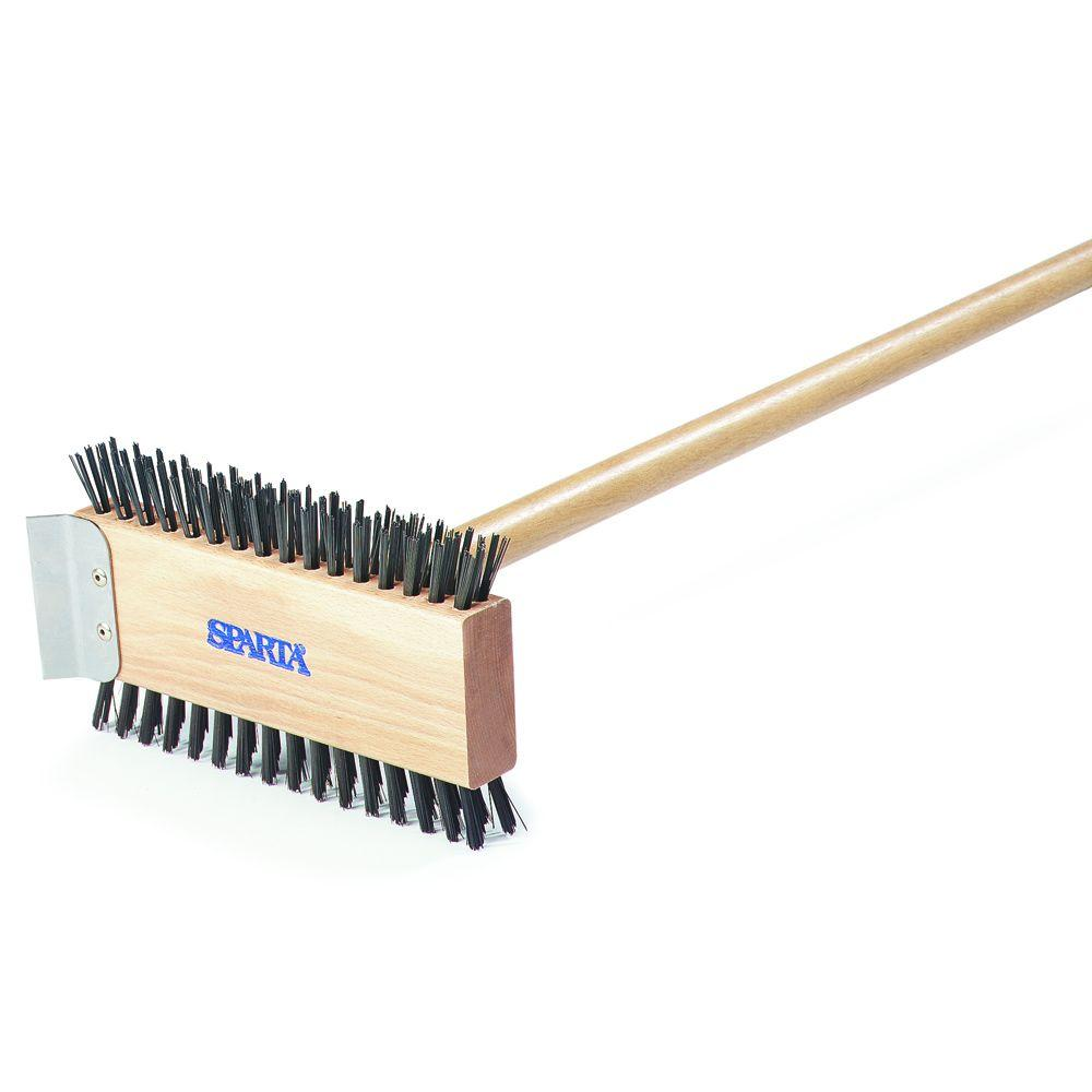 30.5 in. Carbon Steel Broiler Cleaning Brush with Scraper (Case of