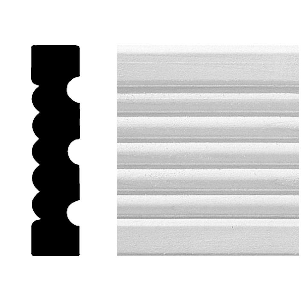 House of Fara 3/4 in. x 3-1/4 in. x 8 ft. MDF Flute Casing Moulding