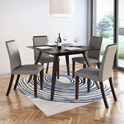 Bistro Pewter Grey Fabric Dining Chairs (Set of 2)