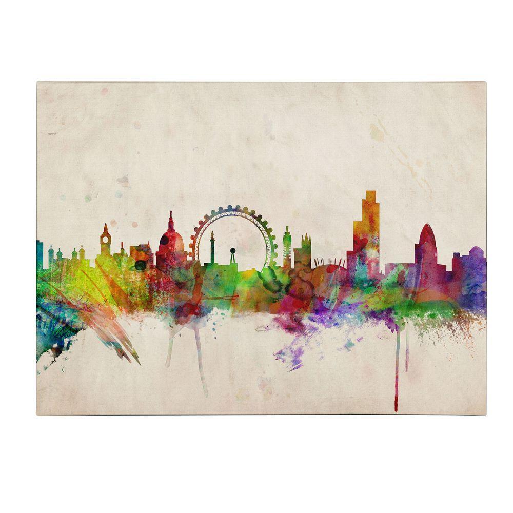 null 14 in. x 19 in. London Skyline Canvas Art