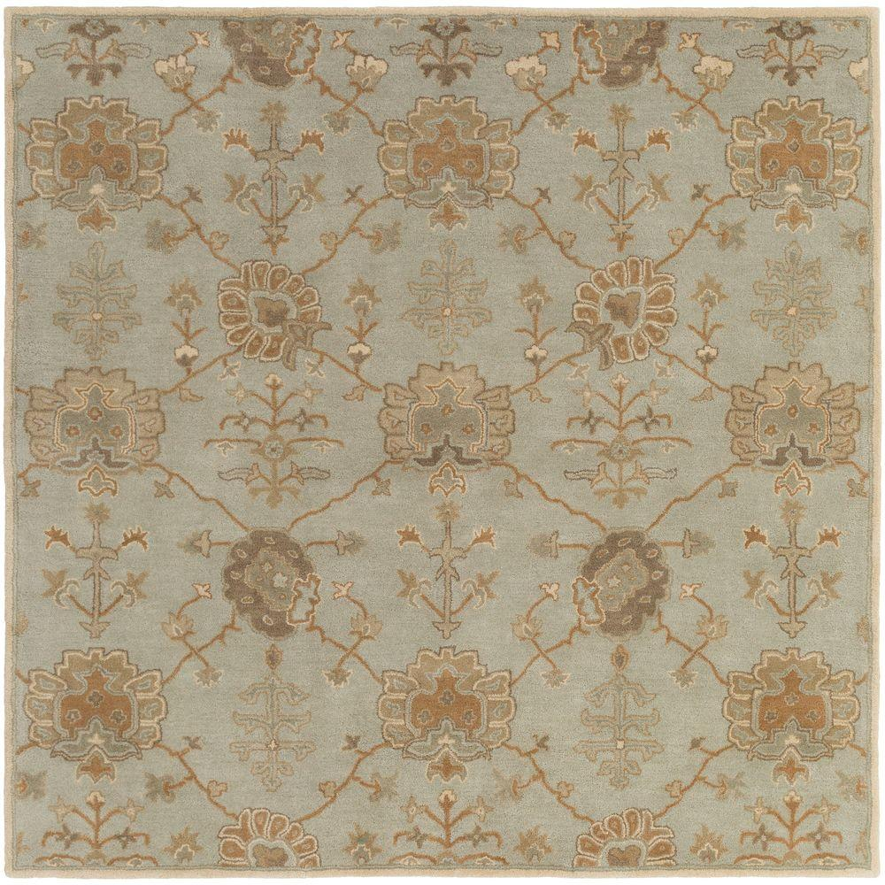 Avitus Olive 6 ft. x 6 ft. Square Indoor Area Rug