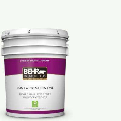 5 gal. #PPU18-06 Ultra Pure White Eggshell Enamel Low Odor Interior Paint and Primer in One