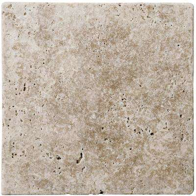 Trav Fontane Tumbled Walnut 5.87 in. x 5.87 in. Travertine Wall Tile