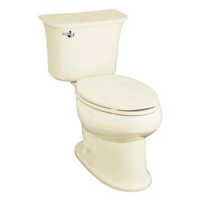 Stinson 2-piece 1.6 GPF High-Efficiency Elongated Toilet in Biscuit