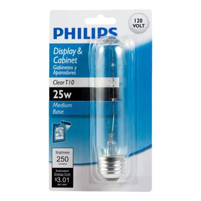 25-Watt T10 Incandescent Clear Tubular Light Bulb
