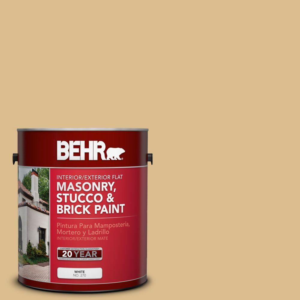 1-gal. #MS-28 Moccasin Flat Interior/Exterior Masonry, Stucco and Brick Paint