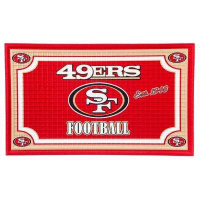 San Francisco 49ers 18 in. x 30 in. Embossed Welcome Mat