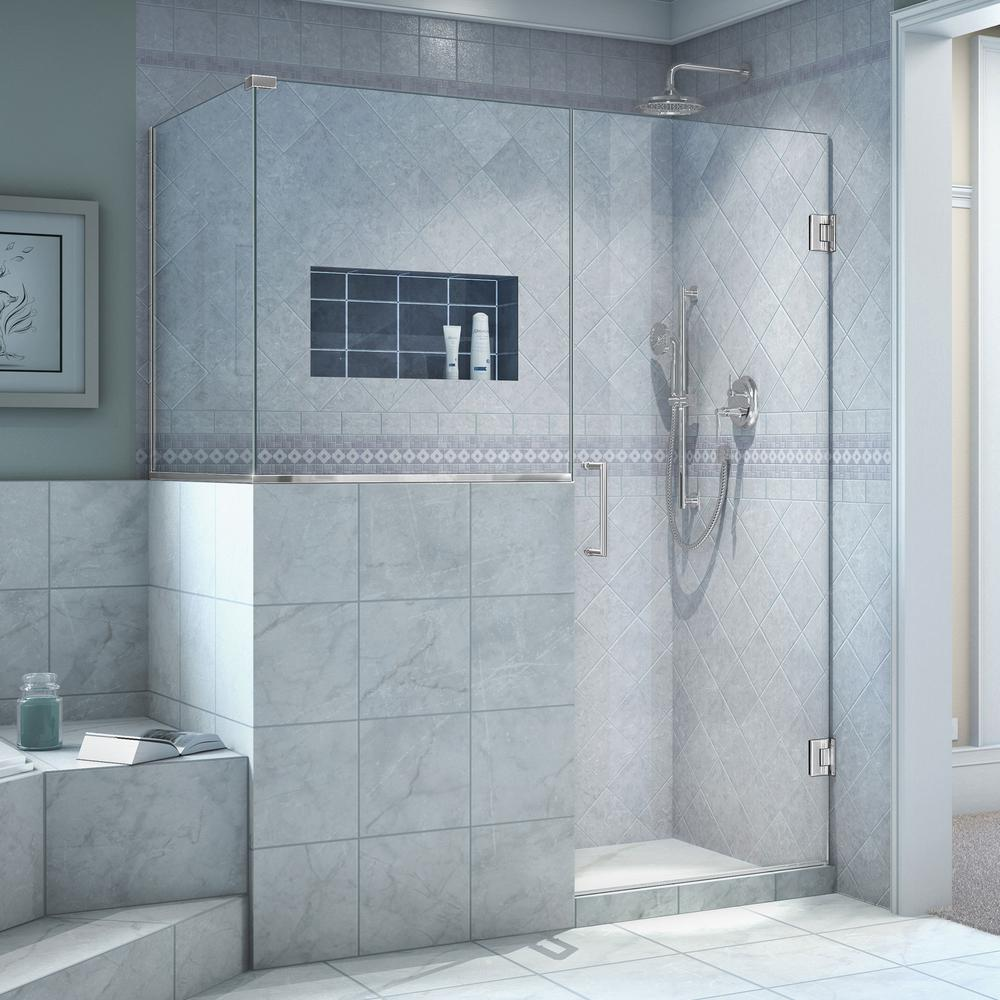 MAAX Halo 34 in. x 60 in. x 79 in. Frameless Corner Sliding Shower ...