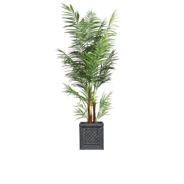 Laura Ashley 82 in. Tall Areca Palm Tree in Planter VHX108215