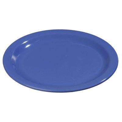 9 in. Diameter Melamine Dinner Plate in Ocean Blue (Case of 48)