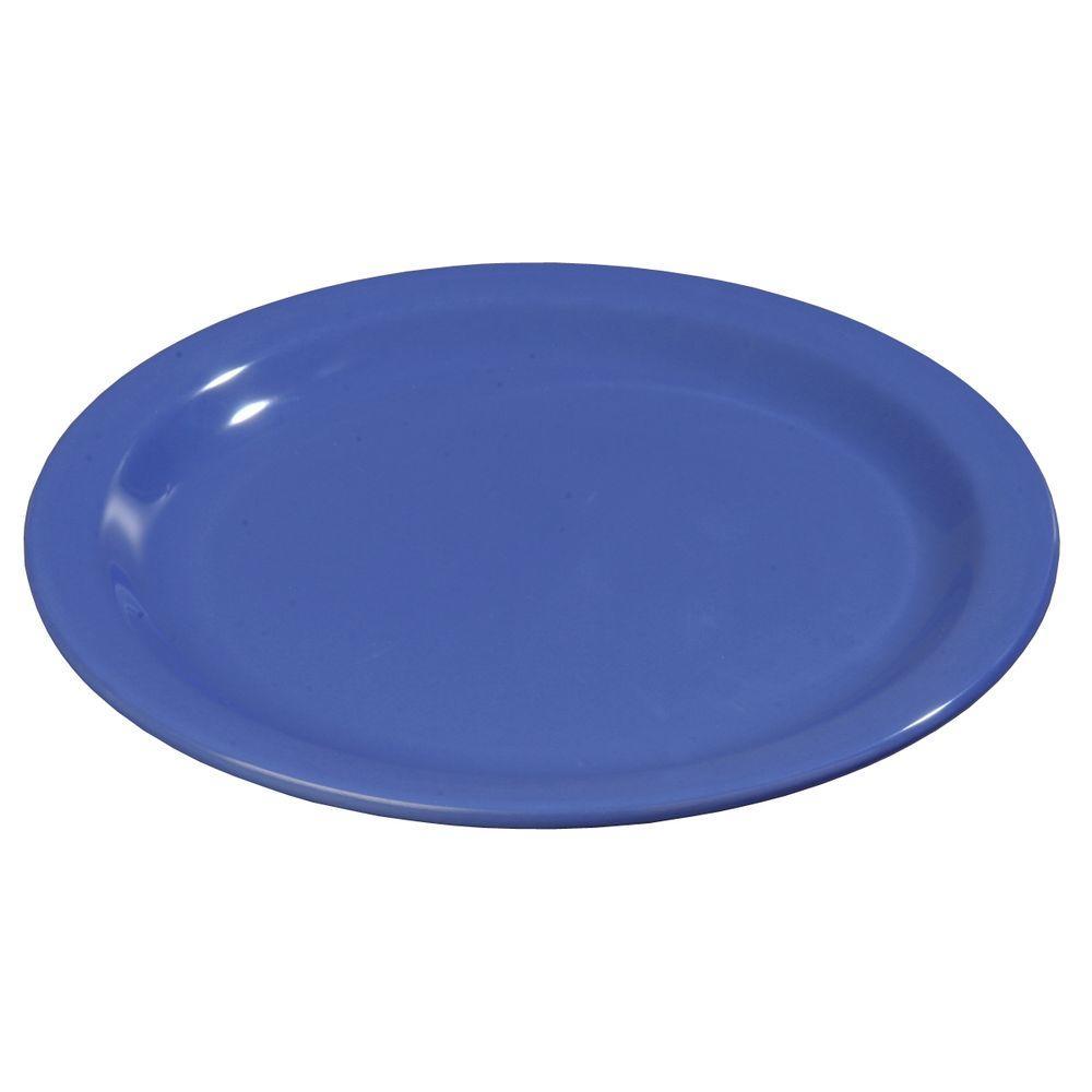 Carlisle 9 in. Diameter Melamine Dinner Plate in Ocean Blue (Case