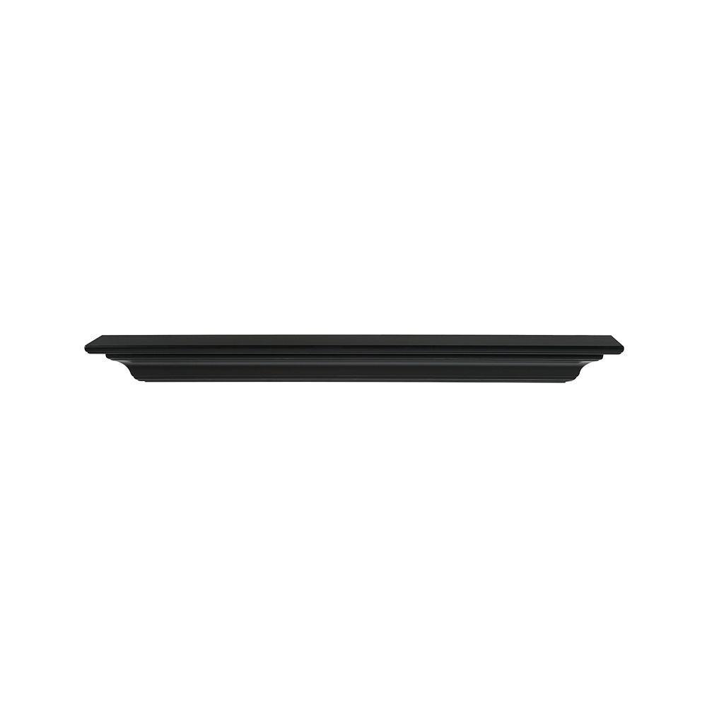 Crestwood 60 in. x 5 in. MDF Black Cap-Shelf Mantel