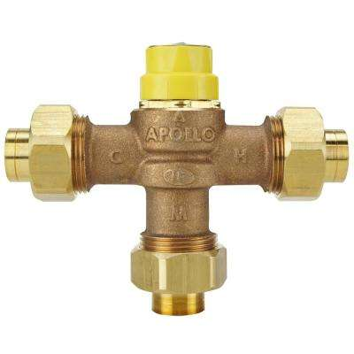 1/2 in. Lead Free Bronze Threaded Thermostatic Mixing Valve