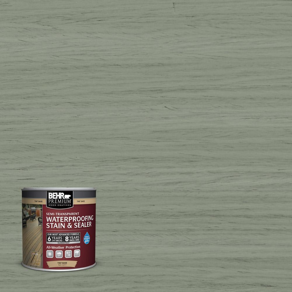 8 oz. #ST-143 Harbor Gray Semi-Transparent Waterproofing Exterior Wood Stain and