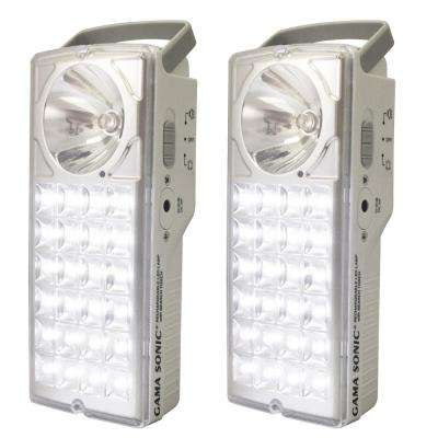 24-LED Rechargeable Battery-Powered Emergency Lantern (Set of 2)