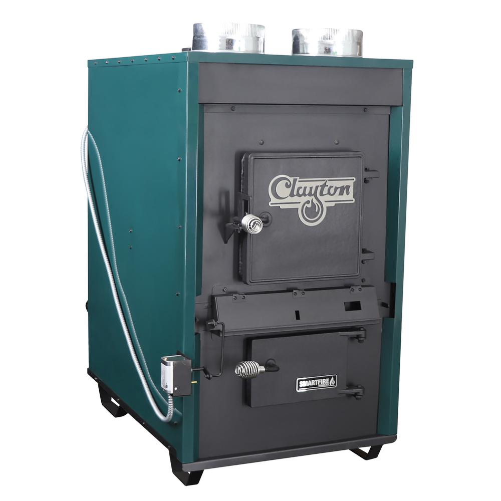 Ashley Hearth Products 3,000 sq. ft. EPA Certified Wood-Burning Warm Air Furnace with Dual Blowers, Thermostat Control
