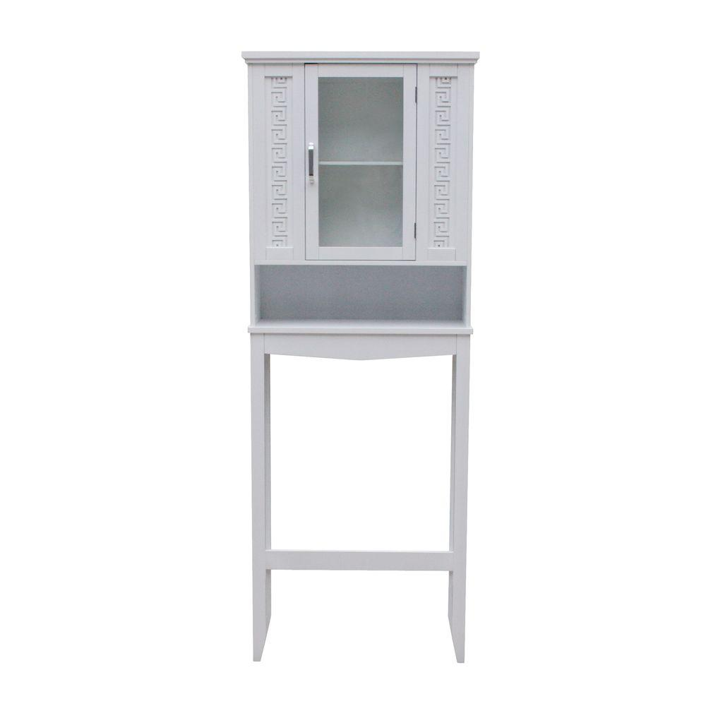 Elegant Home Fashions Chain Link 25 in. Space-Saver Cabinet in White-DISCONTINUED