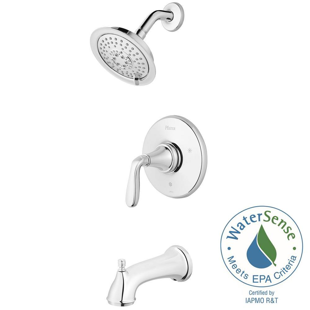 Northcott Single-Handle Tub and Shower Faucet Trim Kit in Polished Chrome