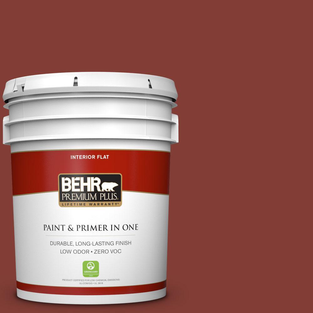 5 gal. #S160-7 Red Chipotle Zero VOC Flat Interior Paint