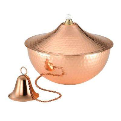 5 in. Polished Copper Large Oil Lamp