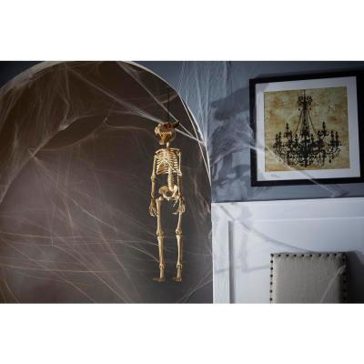 3 ft. LED Hanging Wolf Skeleton