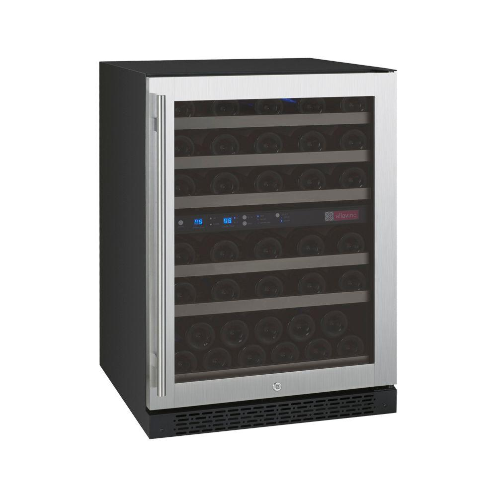 Allavino Flexcount Series 56 Bottle Dual Zone Convertible Wine Cellar