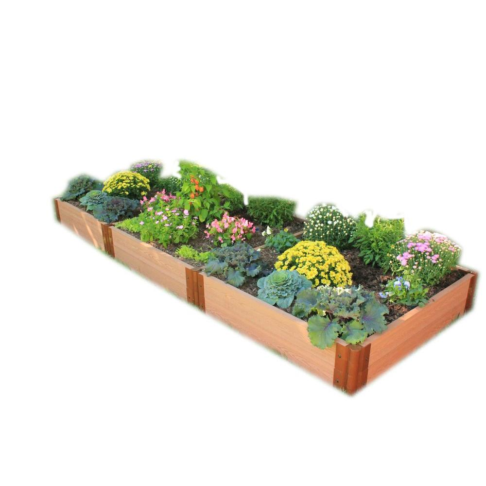 Raised garden bed kits chic greenes fence cedar raised for Garden design kits