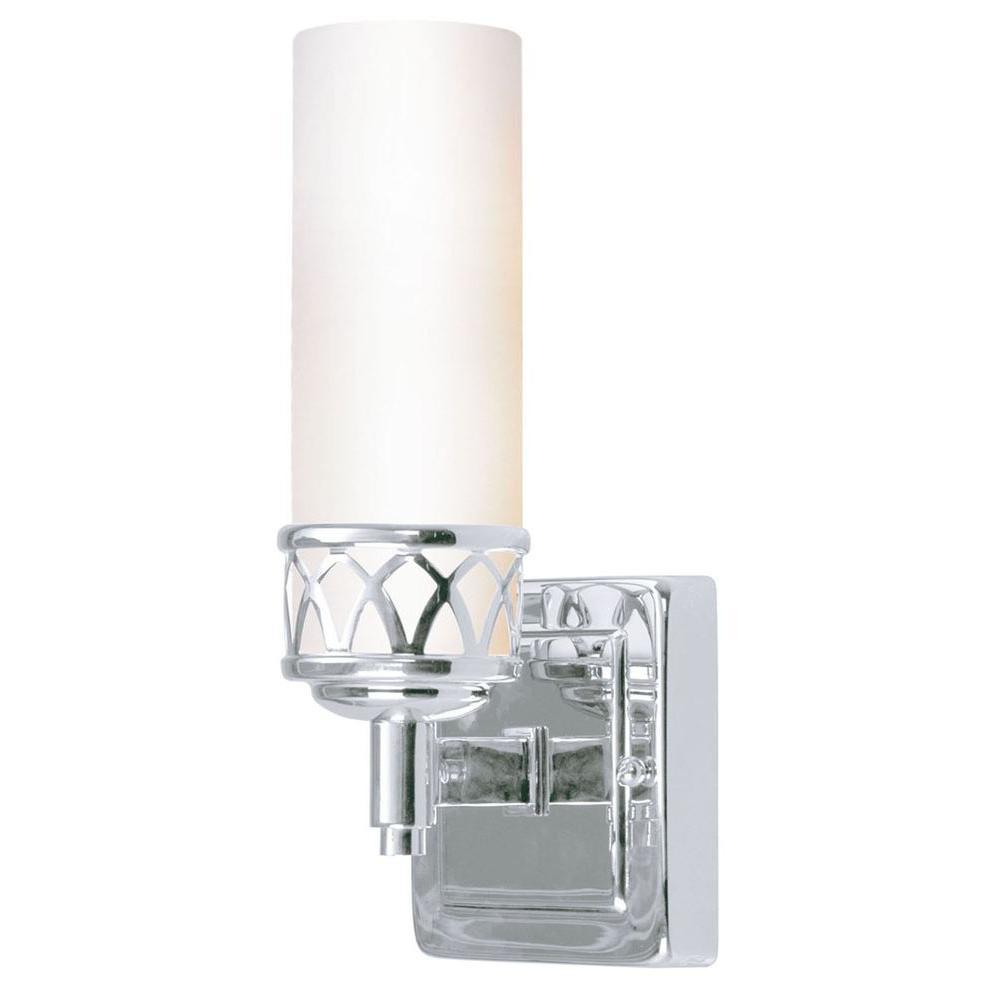 1-Light Chrome Candelabra Bath Vanity Light