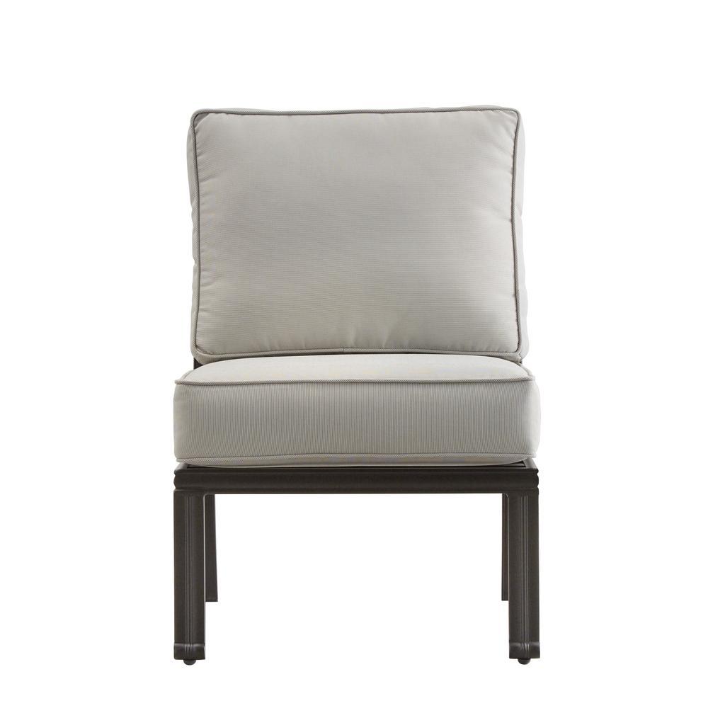 HomeSullivan Thoren Aluminum Armless Middle Outdoor Sectional Chair ...