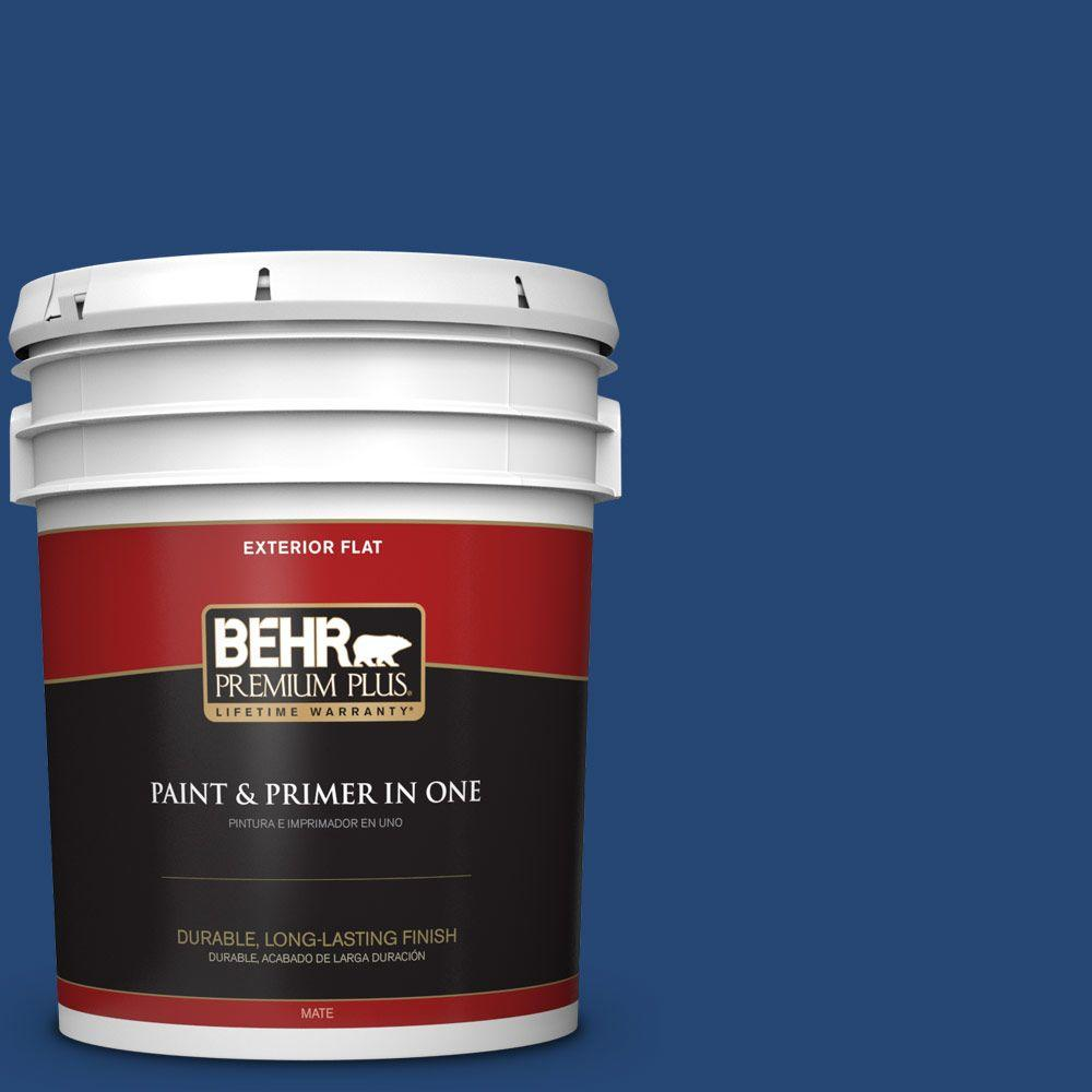 S H 580 Navy Blue Flat Exterior Paint And