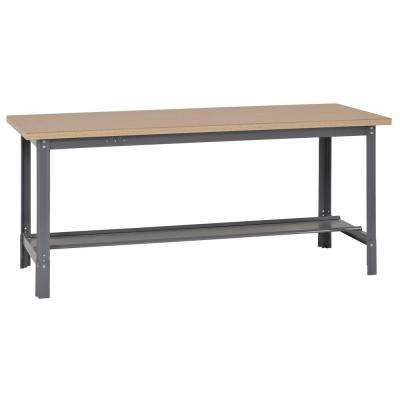 34 in. H x 72 in. W x 30 in. D Steel Workbench with Shelf