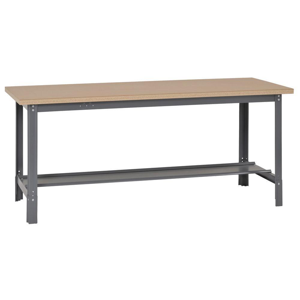 34 in. H x 72 in. W x 30 in. D Steel Workbench with Shelf